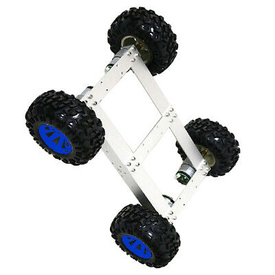 4WD Smart Car Tank Chassis Kit DIY Robot with 12V 300rpm Motor Blue Wheel