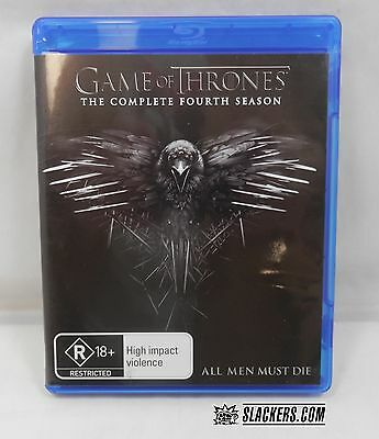 GAME OF THRONES The Complete Fourth Season BLU-RAY 4-DISCS!! Region B *** TV HBO