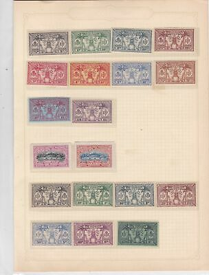 New Hebrides Mounted Mint Stamps on Album Page ref 22195