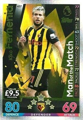 Match Attax 2018/2019 18/19  KIKO FEMENIA MOTM   CARD 437   BY TOPPS