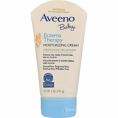 3 Pack Aveeno Baby Eczema Therapy Moisturizing Cream, Unscented, 5 oz