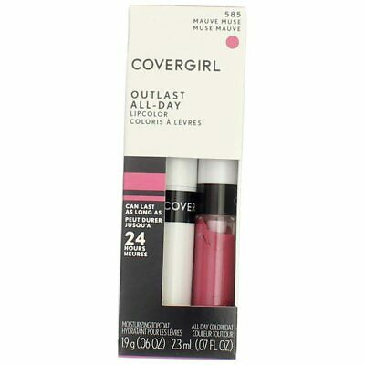 4 Pack CoverGirl Outlast All-Day Lip Color, Mauve Muse 585, 0.065 fl oz, 2 Ct
