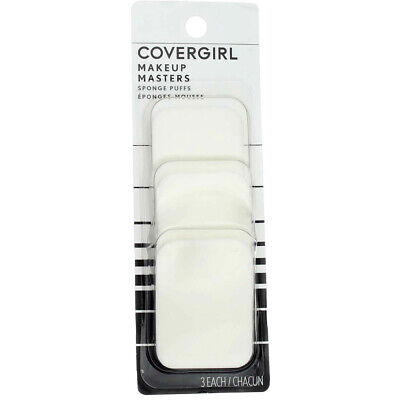 3 Pack CoverGirl Makeup Masters Sponge Puffs, 3 Ct