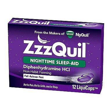 4 Pack Vicks ZzzQuil Nighttime Sleep-Aid LiquiCaps, 12 Ct
