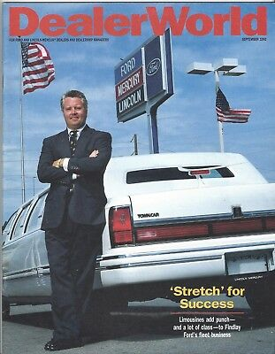 Dealer World Magazine September 1992 Ford Motor Co.  92 News