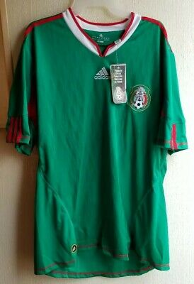 faf8421a743 2010 MEXICO MEN S soccer jersey Adidas size XL 100% polyester NEW ...