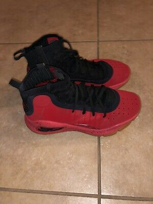 5c0a2ff03ca7 UNDER ARMOUR CURRY 4 Red Black Sz 8 Men Basketball Shoes -  45.00 ...