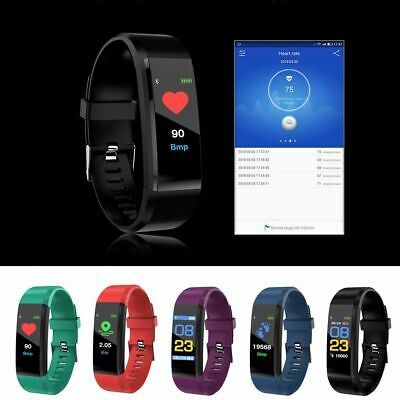 Smart Watch Bracelet Blood Pressure Fitness Tracker Sport Heart Rate Monitor NEW