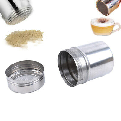 Coffee Sprinkler Stainless Steel Cocoa Cinnamon Sugar Gauze Powder Duster LG