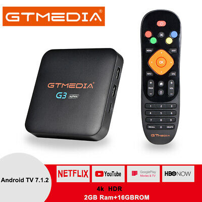 GTMEDIA G3 Android 7.1.2 Built-in Wifi S905X 2G+16G Bluetooth DRM Widevine L1Box