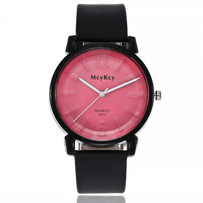 Men's Women's Couple Watches PU Leather Student Watch Simple Wrist Watch DP