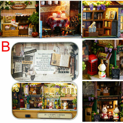 DIY Dollhouse Miniature Furniture 3D Doll House Scenes Image Box New Kids Toy US