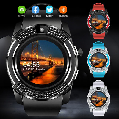 Bluetooth Smart Watch For Android HTC Samsung iPhone iOS + Camera SIM Slot