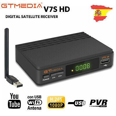 GTMedia V7 DVB S2+Wifi Satellite Receiver Digital Full HD 1080P Blisskey Youtube