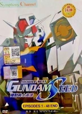 DVD ENGLISH AUDIO HD Remaster Mobile Suit Gundam Seed 1-48 End + Free shipping