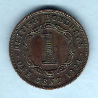 British Honduras. 1924 One Cent..  gVF/EF