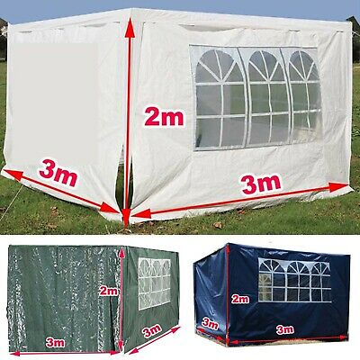 3x3m Gazebo Replacement Exchangeable Side Wall Panels Walls with Window 3 Colors