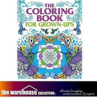 Adult Coloring The Colouring Book For Grown-Ups 352 Pages Anti Stress Books