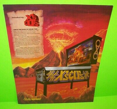 TRIPLE STRIKE Pinball FLYER Original 1975 NOS Promo Game Artwork Sheet Williams