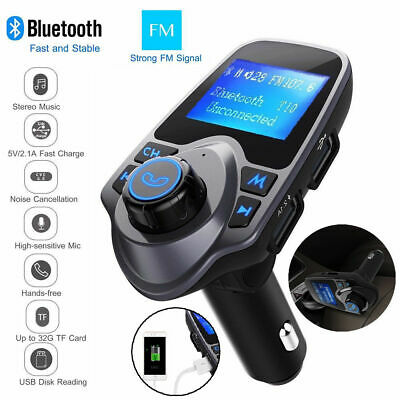 Car Kit Wireless Bluetooth FM Transmitter Radio MP3 Music Player & 2 USB Charge
