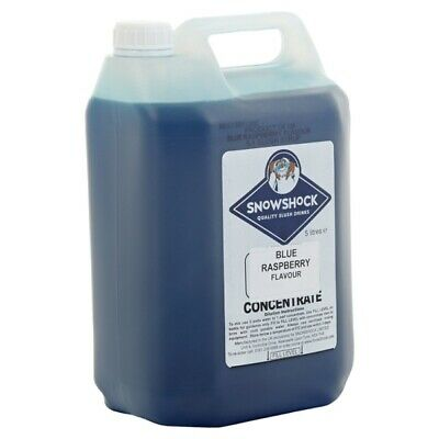 Snow Shock Blue Raspberry Slush Drinks From Concentrated 5 Litre Bottle 181290