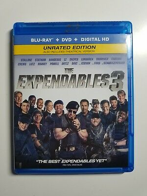 The Expendables 3 (Unrated Edition) Blu Ray + DVD + Digital Download
