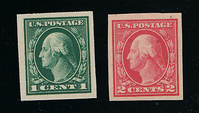 Genuine Scott #481 And #482 Mint Og Nh Lh Imperforates Unwatermarked #7242