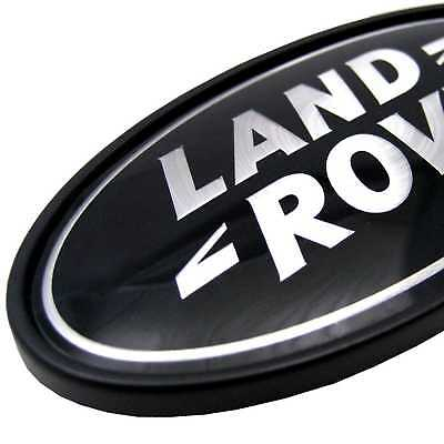 Land Rover Discovery black+Silver Oval rear badge upgrade 1 2 3 LR3 logo genuine