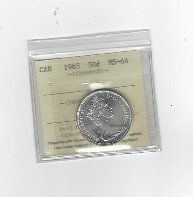**1965**, ICCS Graded Canadian, 50 Cent, **MS-64**