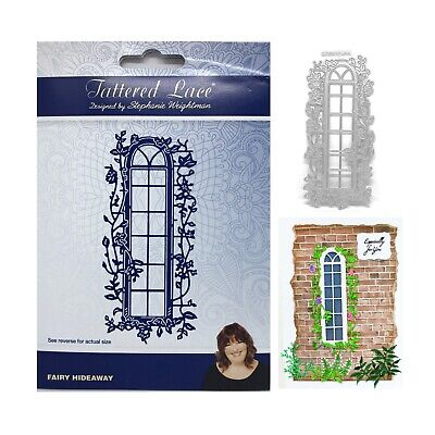 Arched Window Metal Die Cut Fairy Hideaway Tattered Lace Cutting Dies Ivy