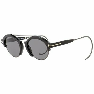 7e7442433c6 TOM FORD RETRO FARRAH Sunglasses Black Ruthenium  Dark Grey Lenses ...