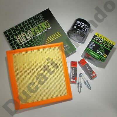 Service kit Hiflo air and oil filter Champion spark plugs for Ducati