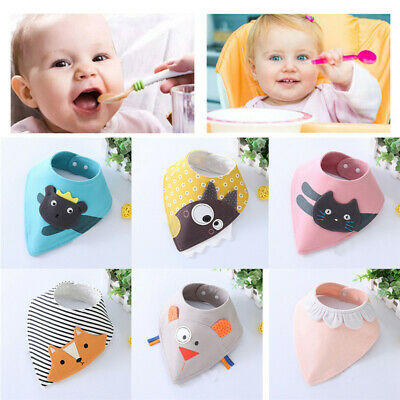 US Baby Boy Girls Saliva Towel Bandana Bib Dribble Triangle Kids Head Scarf GIFT