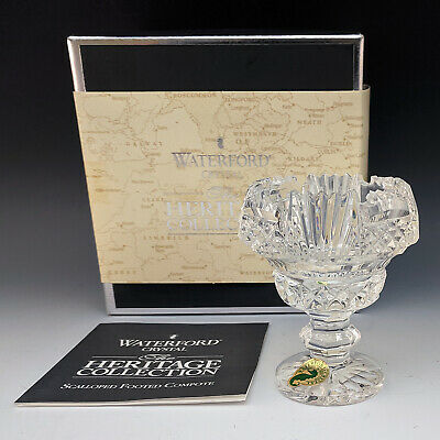 Waterford Crystal Miniature Scalloped Compote Mini HERITAGE Bowl Ireland Made