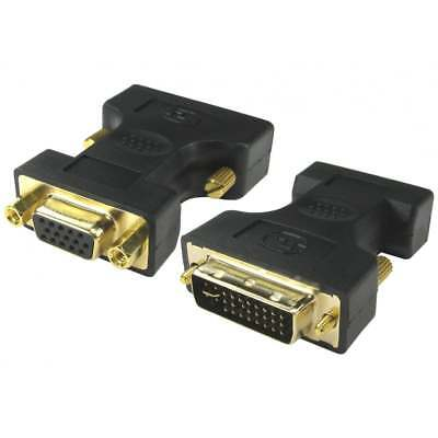 DVI TO VGA Adapter SVGA HD15 Analog Monitor DVI-A / DVI-I Converter GOLD