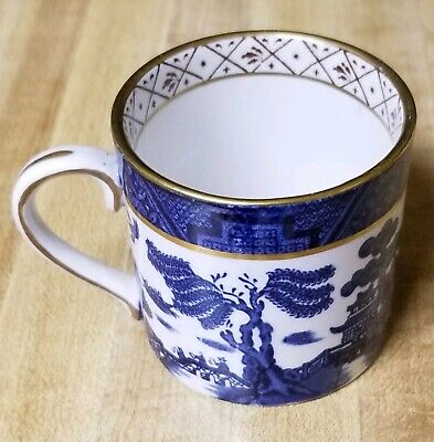 Antique BOOTHS china REAL OLD WILLOW Pattern Gold Trim Mug, Made In England