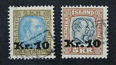 CKStamps: Iceland Stamps Collection Scott#142 143 Used