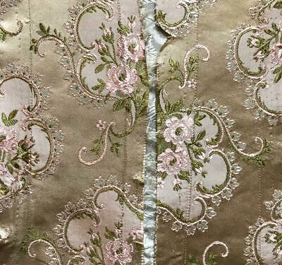 2 FRAGMENTS BEAUTIFUL 19th CENTURY FRENCH FINE SILK BROCADE, PROJECTS, REF 101.