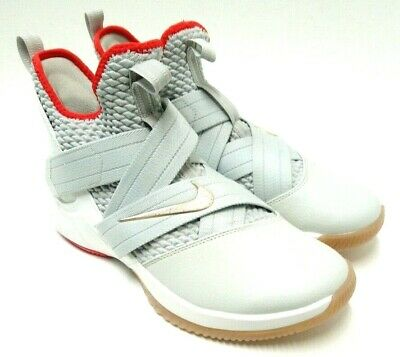 new concept 60c38 2a070 NIKE MENS LEBRON James Soldier XII 12 Light Bone Gray Size 8.5 Basketball  Shoes