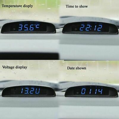Car Interior Watch Trim Appearance 12v  Clock Thermometer Voltage Monitor