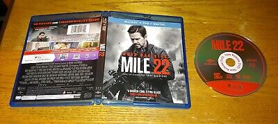 Mile 22 2018 Blu-ray 1 Disc Mark Wahlberg FREE SHIPPING!!!!!!!!!! ! ! ! !  !! !