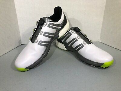 d07f05271047 Adidas Powerband BOA Boost Men s Size 15 White Gray Black Golf Shoes ZZ-692