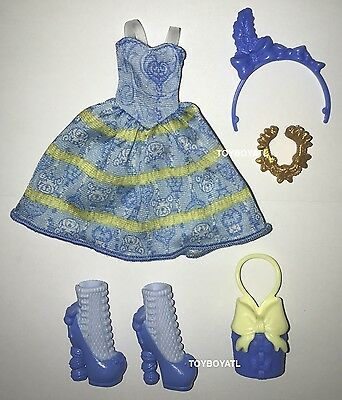 Ever After High Birthday Ball Blondie Lockes Doll Outfit Clothes Dress Shoes NEW