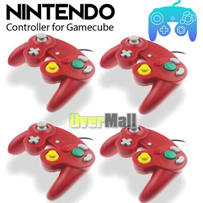 2/4xDual Analog Shock Controller Wired Game Pad for Nintendo Gamecube NGC GC Wii