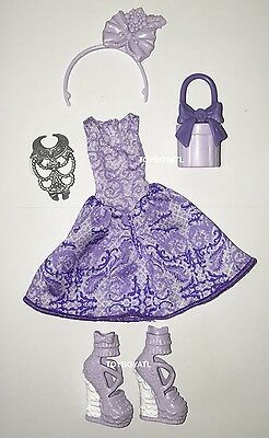 Ever After High Birthday Ball Duchess Swan Doll Outfit Clothes Dress & Shoes NEW