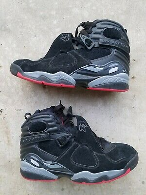 competitive price a924d f0221 NIKE AIR JORDAN 8 VIII Retro Size 11 Bred Black Cement Gym Red Grey  305381-022
