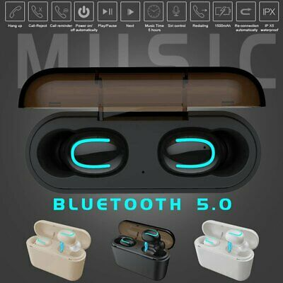 Mini TWS Wireless Bluetooth 5.0 Earbuds Stereo Headset Headphone In ear Earphone