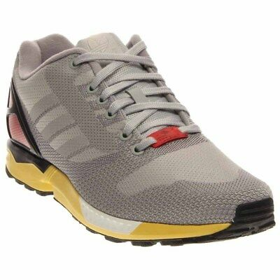 ADIDAS ZX FLUX Weave Running Shoes Grey Mens