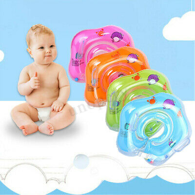 Baby BB Infant Swimming Neck Float Inflatable Safety Bath Swim Rings 0-18 Months