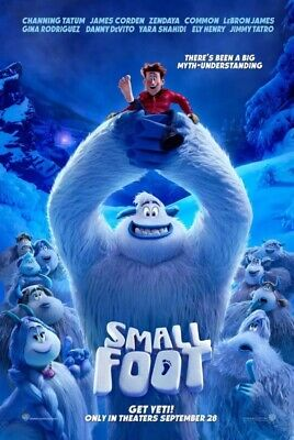 Smallfoot 2018 Original DS movie poster 27x40 D/S Small Foot
